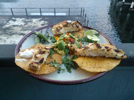 Wahoo sashimi and fish tacos salmon university for Wahoo fish taco recipe