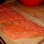 Preparing Smoked Salmon