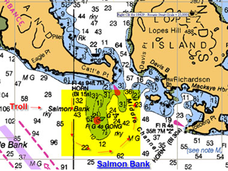 San juan islands salmon university for Fishing san juan islands