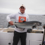 John Morrison traveled from Olympia Wa to catch his 22 pounder taken at Great Bear Rock