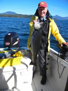 Bob of Oregon salmon fished with daughter Gerri and had a wonderful day of fishing along the Bamfield Wall.
