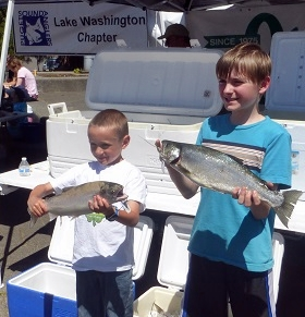 "Two of the successful ""child anglers!"""