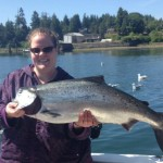 June 9: Tanna holding up a 28lb Chinook