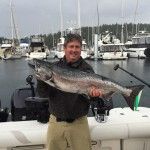 Hawg Heaven Charters out of Friday Harbor put on a clinic this weekend. This was one of a slew of nice fish to hit the docks.