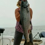 Terri Snider wrestled this seal bit brute to the boat.