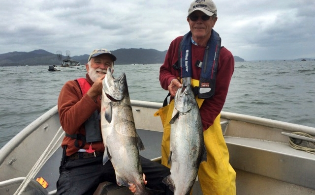 23 and 20 pound kings....Don Dybeck on left with partner Lee Guilford from Olympia (fishing pals for over 35 years)