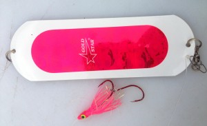 "Pink Squid with a 6"" dodger cannot be beat when trolling slow."