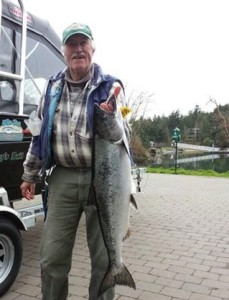 Peter and his derby winning salmon