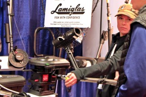 Seattle Boat Show attendees ask about Scotty downriggers.