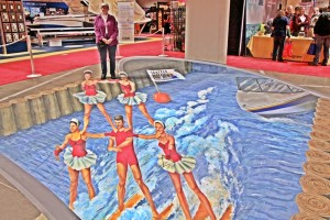 Melanie Stimmell, a 3D artist, designed this 400 square-foot display at the 2016 Seattle Boat Show.