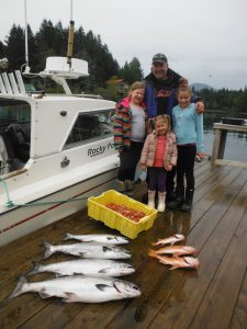 Jamie and his girls with some nice Chinook