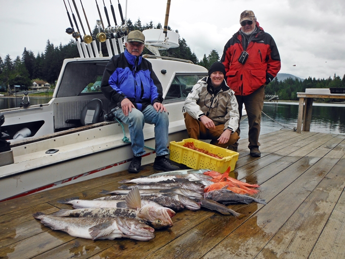 Alan, Grant and Rick had a great morning of Lingcod, Yellow Eye and then topped it of with Spot Prawns.