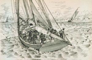 a halibut schooner, c. 1890