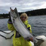 Brenda Schmidt reeled in a very nice Chinook last weekend.