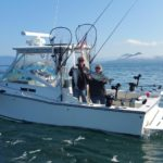 Lance and Karen Rhinehart celebrated their 16th Anniversary on September 30th by hooking up a couple blackmouth.