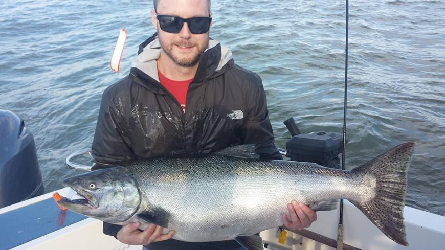 David with a 30lb blackmouth!