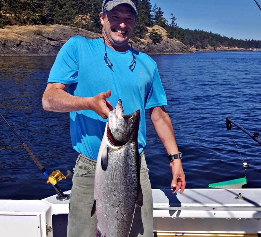 Ken Christensen landed a dandy while fishing out of Snug Harbor Resort on San Juan Island.