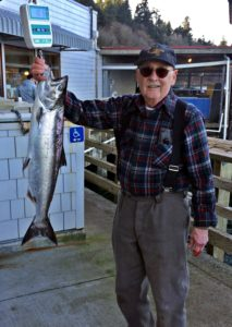 Pictured is Al Roberts with a 10 pound 6 ounce blackmouth salmon caught last week at Point Defiance